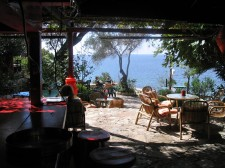 Restaurace na pláži v Rijeka Rezevici